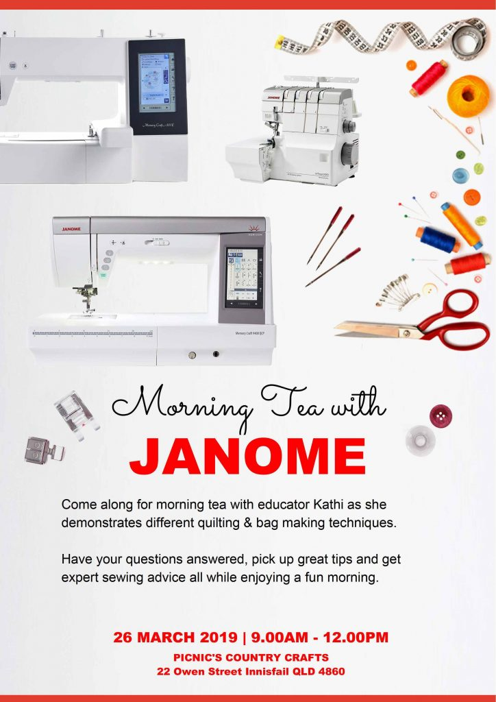 Morning Tea with Janome - Picnics Country Crafts